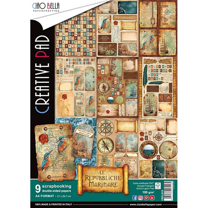 Ciao Bella LE REPUBBLICHE MARINARE A4 Creative Pad