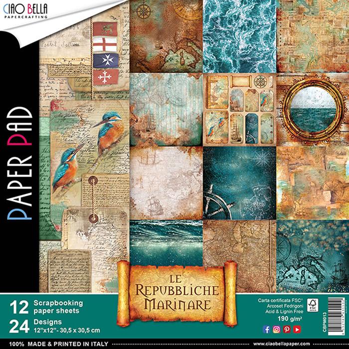 Ciao Bella LE REPUBBLICHE MARINARE 12x12 Paper Pad