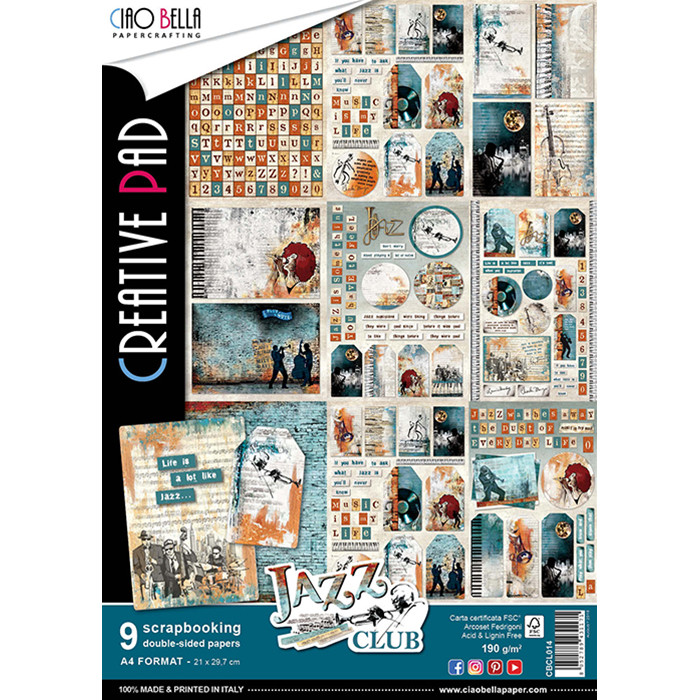 Ciao Bella JAZZ CLUB A4 Paper Pack