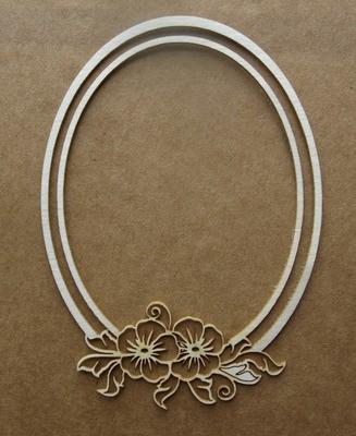 Oval Floral Frame 3