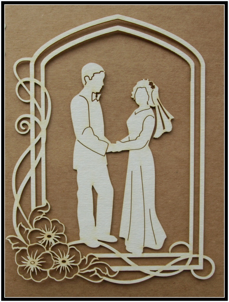 Bride & Groom 2 chipboard