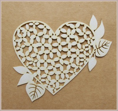 Heart  of Lilac chipboard