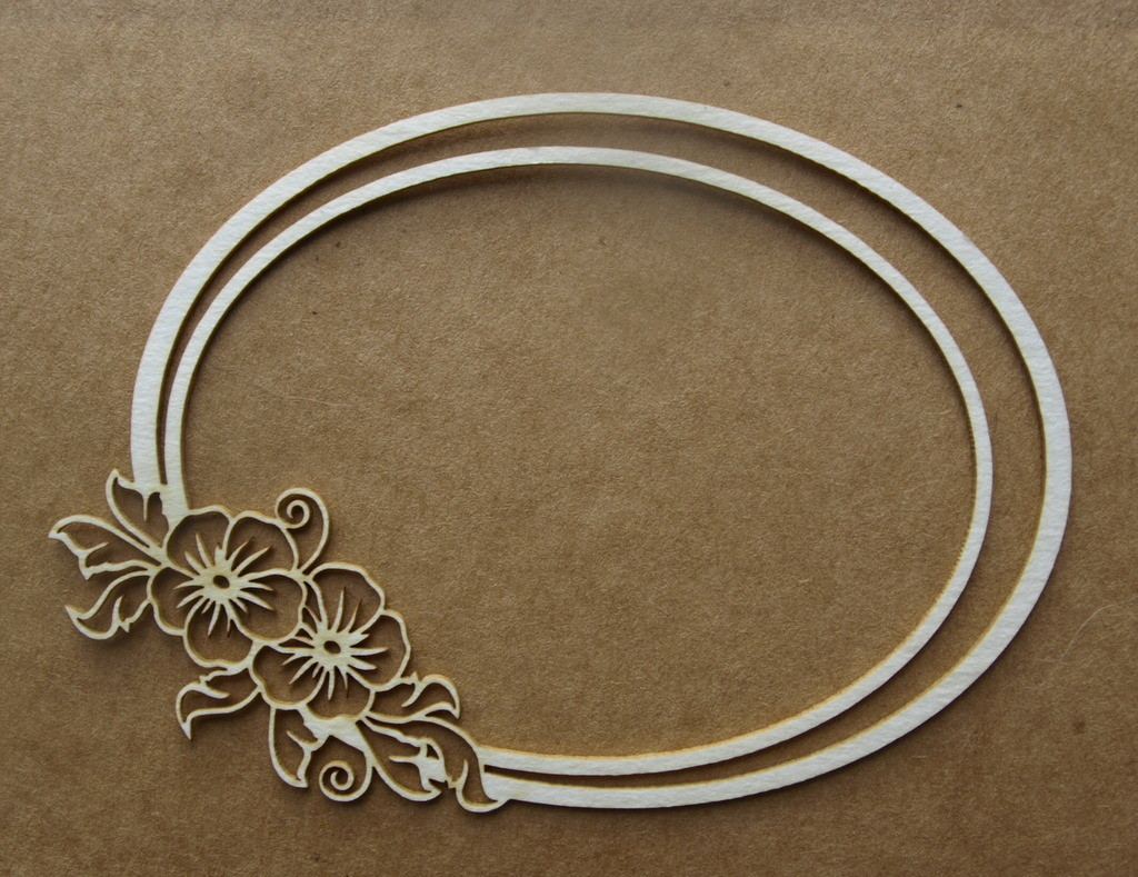 Oval Floral Frame 1
