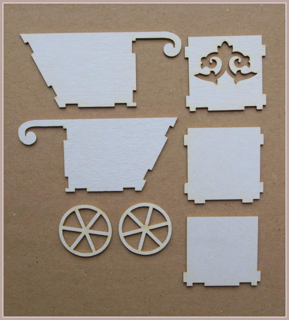 Wheelbarrow with a Decorative Side