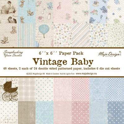 Vintage Baby 6x6 Paper Stack