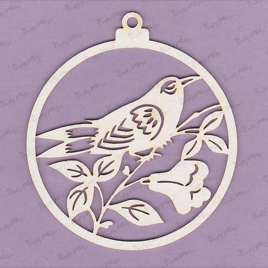 Pendant - Bird on a Flower