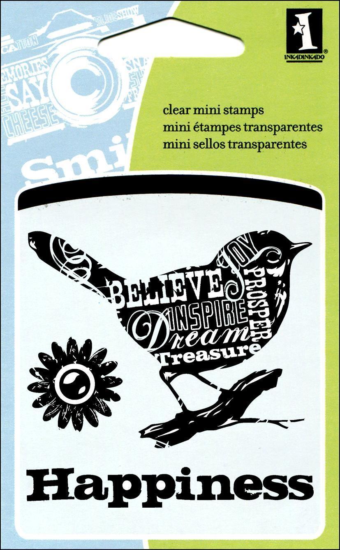 Inkadinkado Mini Clear Stamp - Bird