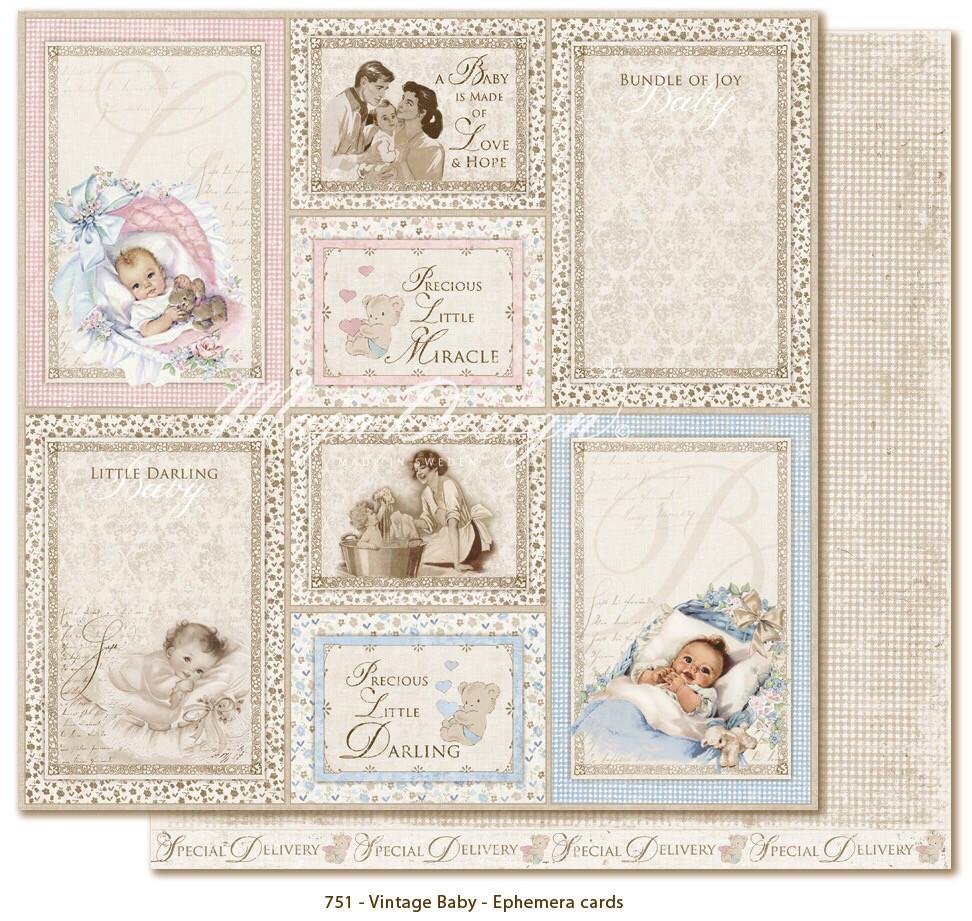 Vintage Baby Ephemera Cards