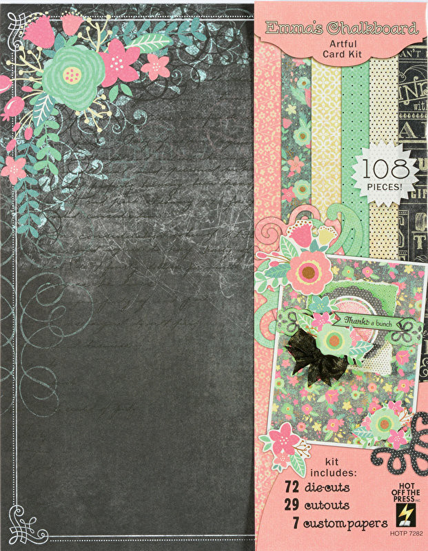 Emma's Chalkboard Artful Card Kit