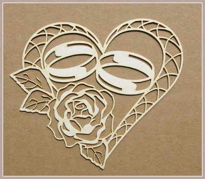 Heart With Wedding Rings