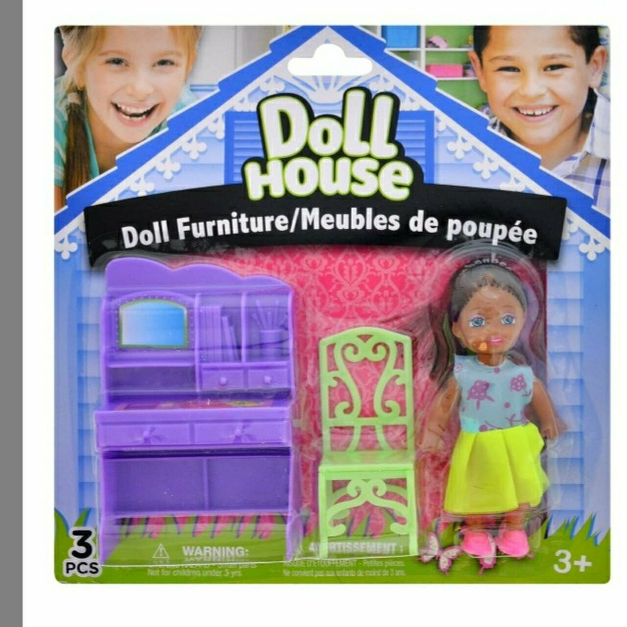 MINI  BLACK  DOLL  WITH  DOLL  FURNITURE