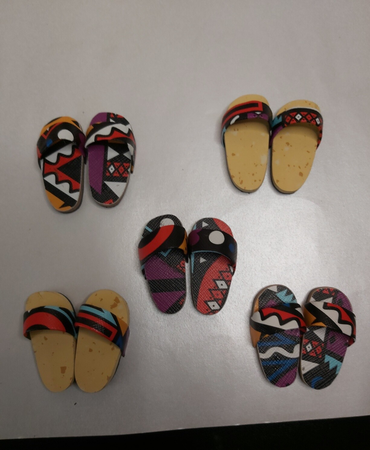 AFRICAN  PRINT SLIPPERS  FOR  14  -  18  INCHES  DOLL