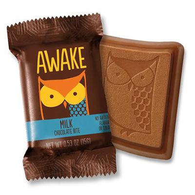 Awake - Caffeinated Chocolate - Caffeinated Milk Chocolate - 15x15g