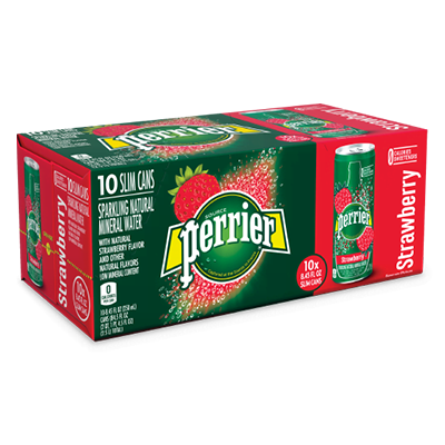 Perrier - Sparkling Water - Slim Can - Strawberry - 10x250mL