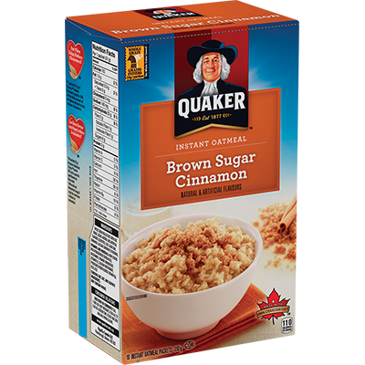 Quaker - Instant Oatmeal - Brown Sugar Cinnamon - 248g