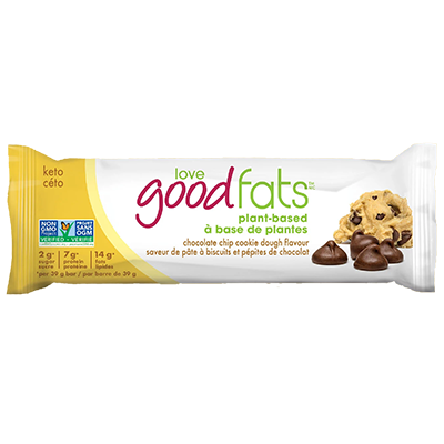 Love Good Fats - Plant Based Bar - Chocolate Chip Cookie Dough - 12x39g