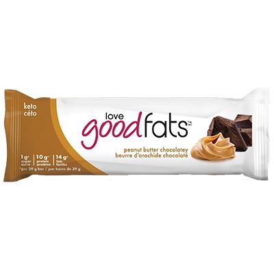 Love Good Fats - Plant Based Bar - Chocolatey Peanut Butter - 12x39g