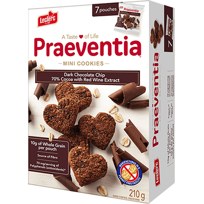 LeClerc - Praeventia - Dark Chocolate Chip w/ Red Wine - 7x30g