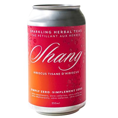 Shang - Sparkling Herbal Tea - Hibiscus Tisane - 4x355mL