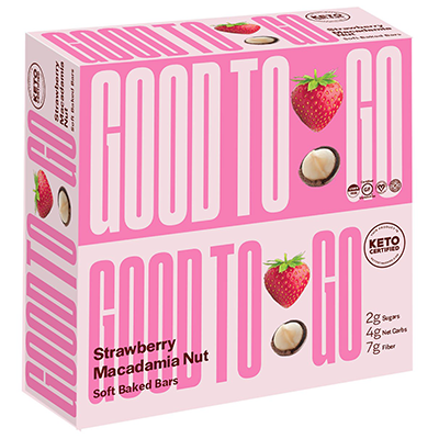 Good To Go - Soft Baked Bars - Strawberry Macadamia Nut - 9x40g