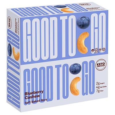 Good To Go - Soft Baked Bars - Blueberry Cashew - 9x40g