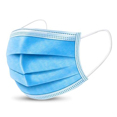 *NEW* - Three Layer Face Mask - Blue (50 pack) - (3-5 Day Lead Time)