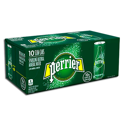 Perrier - Sparkling Water - Slim Can - Original - 10x250mL