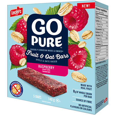 Go Pure - Fruit & Oat Bar - Raspberry - 5x28g
