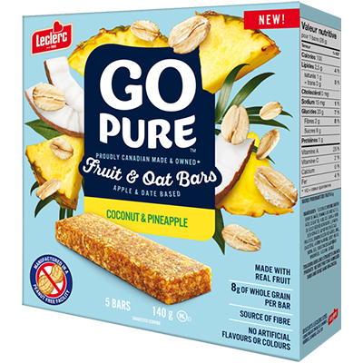 Go Pure - Fruit & Oat Bar - Coconut & Pineapple - 5x28g