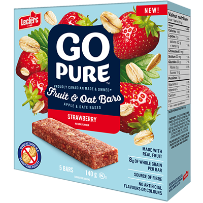 Go Pure - Fruit & Oat Bar - Strawberry - 5x28g