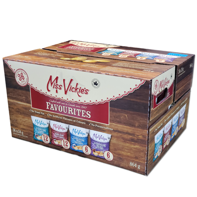 *NEW* - Miss Vickies - Kettle Cooked Potato Chips - Favourites - 36x24g