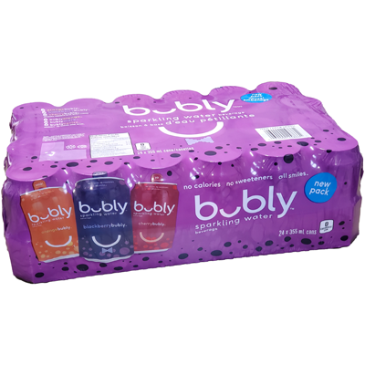 Bubly - Flavored Sparkling Water - 24 Pack Assorted - 24x355mL