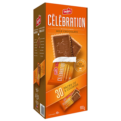 *NEW* - Leclerc - Celebration Cookies - Milk Chocolate - 30x30g