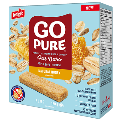 *NEW* - Go Pure - Fruit & Oat Bar - Natural Honey - 5x32g