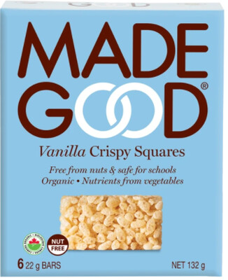 *NEW* - Made Good - Crispy Squares - Vanilla - 36x22g