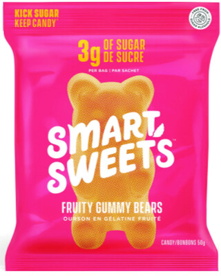 *NEW* - Smart Sweets - Fruity Gummy Bears - Original - 12x50g