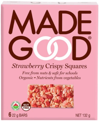 *NEW* - Made Good - Crispy Squares - Strawberry - 36x22g