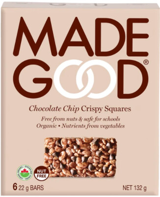 *NEW* - Made Good - Crispy Squares - Chocolate Chip - 36x22g