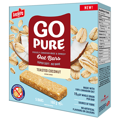*NEW* - Go Pure - Fruit & Oat Bar - Toasted Coconut - 5x32g