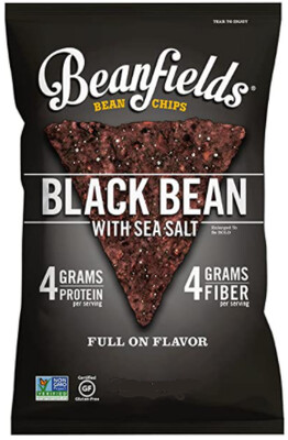 *NEW* - Beanfields - Bean Chips - Black Bean & Sea Salt - 24x42g