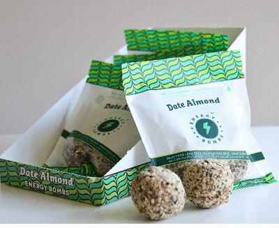 *New* - Energy Bombs - Energy Ball - Date Almond - 6x60g