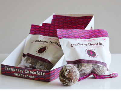 Energy Bombs - Energy Ball - Cranberry Chocolate - 6x60g