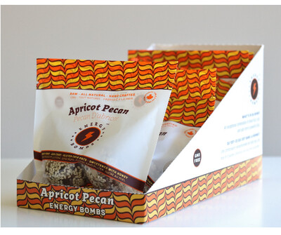 *New* - Energy Bombs - Energy Ball - Apricot Pecan - 6x60g