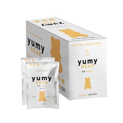 * NEW * - Yumy Bear - Fruity Gummy Bears - Fit Peach - 12x50g