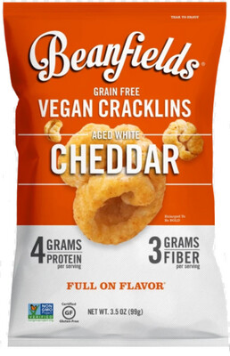 *NEW* - Beanfields - Bean Cracklins - Aged White Cheddar - 24x28g