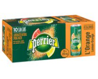 *NEW* - Perrier - Sparkling Water - Slim Can - Orange - 10x250mL