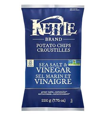 *NEW* - Kettle - Potato Chips - Sea Salt & Vinegar - 24x45g
