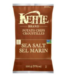 *NEW* - Kettle - Potato Chips - Sea Salt - 24x45g