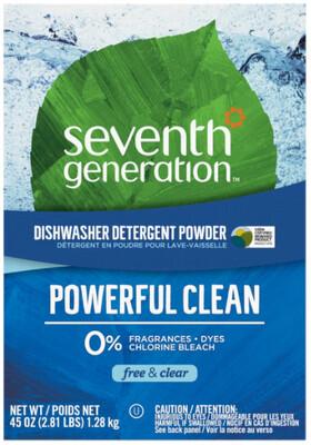 *NEW* - Seventh Generation - Dishwasher Detergent - Powder - Clear & Free - 1.28kg