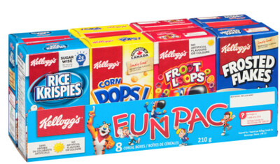 *NEW* - Kellogg's - Fun Pack Cereal - Variety Pack (8 packs) - 8x210g